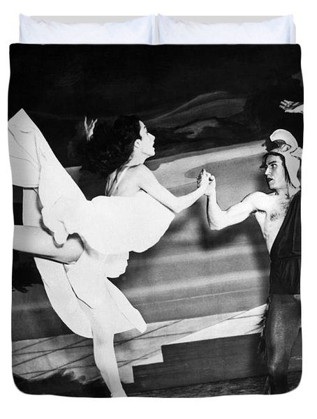 A Scene With The Russian Ballet Duvet Cover by Underwood Archives