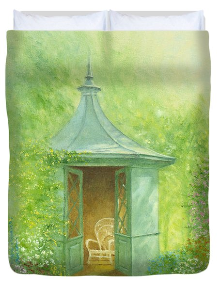 A Seat In The Summerhouse Duvet Cover by Garry Walton