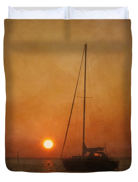 A Ship In The Night Duvet Cover