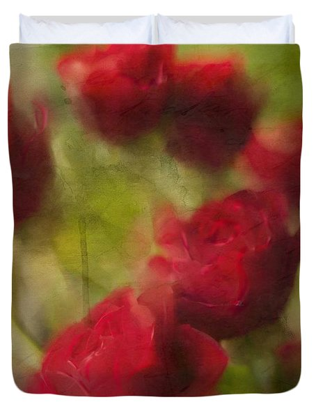 A Shower Of Roses Duvet Cover
