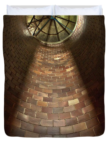 Duvet Cover featuring the photograph A Silo Of Light From Above by Jerry Cowart
