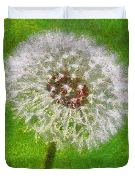 Duvet Cover featuring the painting A Simple Beauty by Joe Misrasi
