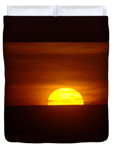 A Slow Sunset Duvet Cover by Jeff Swan
