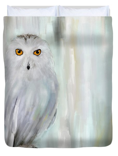 A Snowy Stare Duvet Cover by Lourry Legarde