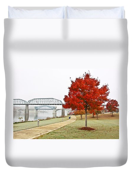 A Soft Autumn Day Duvet Cover