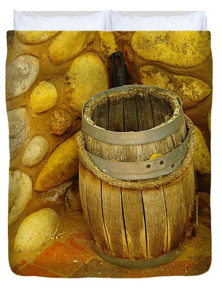 A Sole Barrel Duvet Cover by Jeff Swan