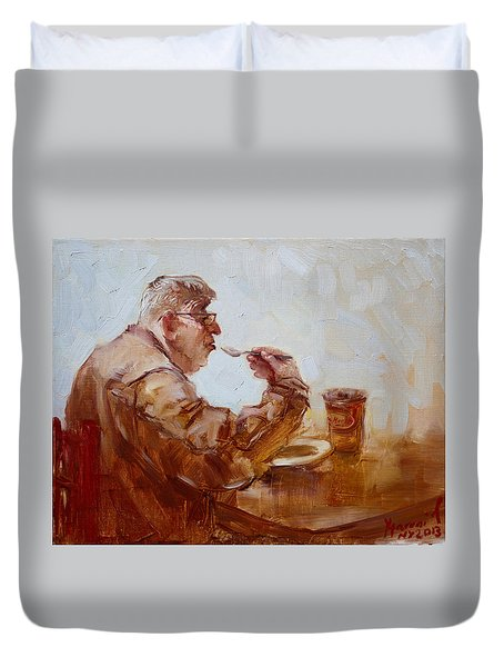 A Soupe Break At Tim Hortons Duvet Cover