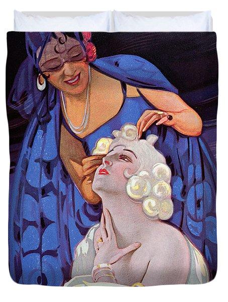 A Spanish Hairdresser Duvet Cover by Vila