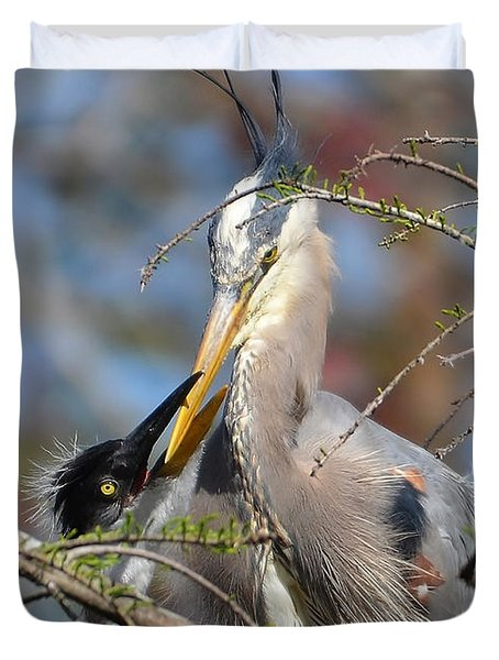 Duvet Cover featuring the photograph A Special Moment by Kathy Baccari