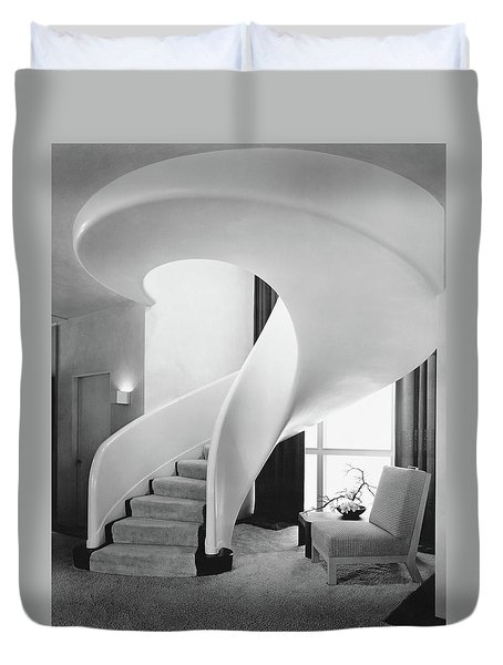 A Spiral Staircase Duvet Cover by  Hedrich-Blessing