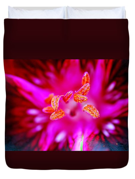 Duvet Cover featuring the photograph A Splash Of Colour by Wendy Wilton