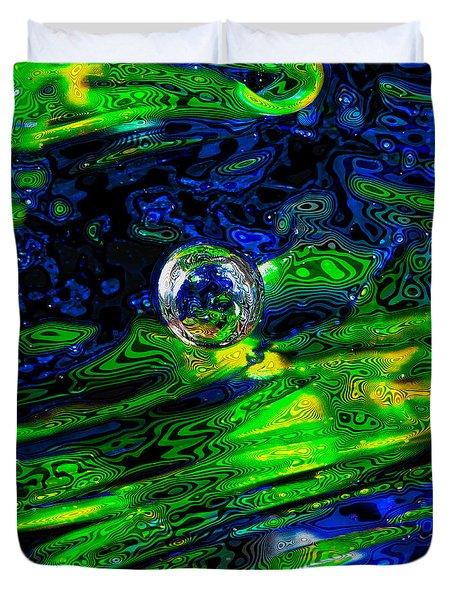 A Splash Of Seahawks Duvet Cover