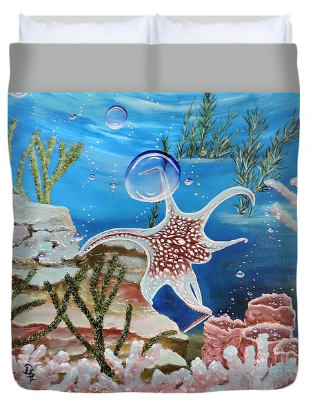 A Squid Named Sid Duvet Cover
