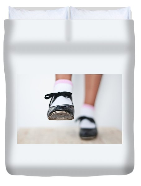 Old Tap Dance Shoes From Dance Academy - A Step Forward Tap Dance Duvet Cover
