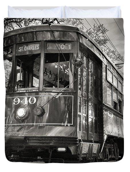 A Streetcar Named St Charles Duvet Cover