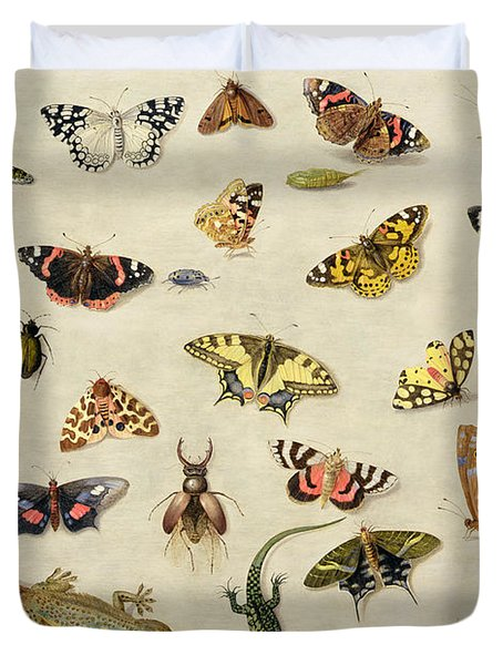 A Study Of Insects Duvet Cover
