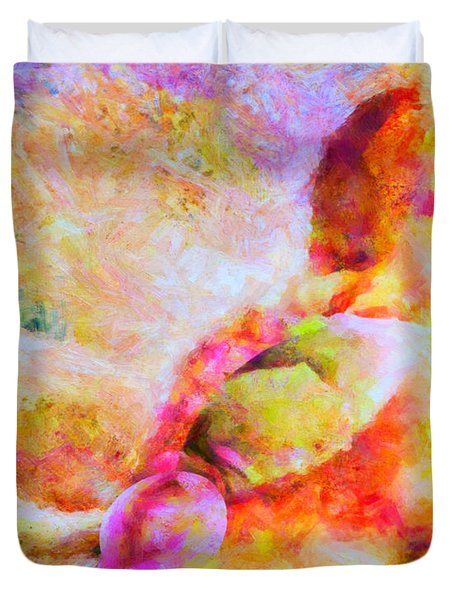 Duvet Cover featuring the painting A Summer Afternoon Love by Joe Misrasi