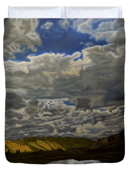 A Summer Day On Cottonwood Pass Duvet Cover by Thu Nguyen