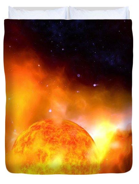 A Sun Rises Duvet Cover