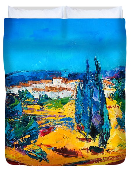 A Sunny Day In Provence Duvet Cover