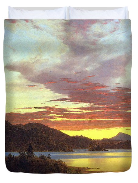 A Sunset By Frederick Edwin Church Duvet Cover