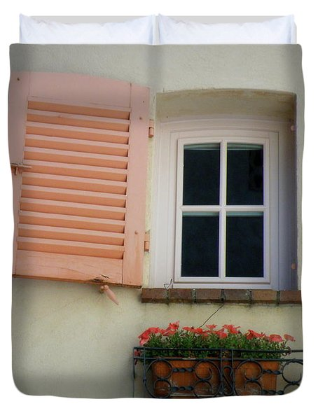 A Sweet Shuttered Window Duvet Cover by Lainie Wrightson