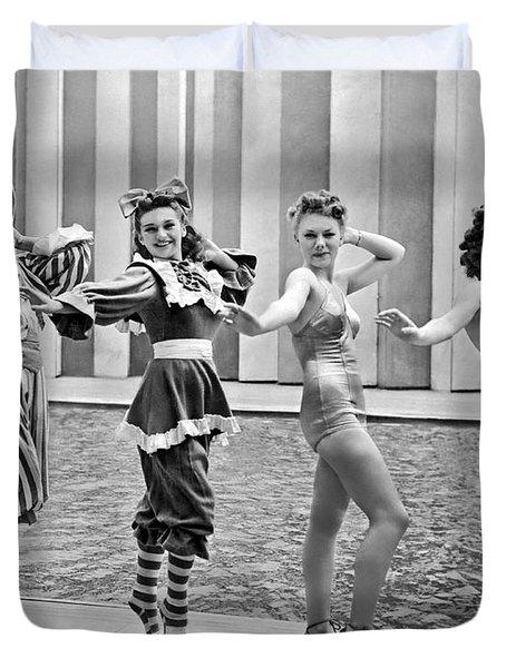 A Swimwear Fashion Show Duvet Cover