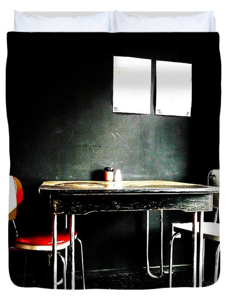 A Table For Two Duvet Cover by Steve Taylor