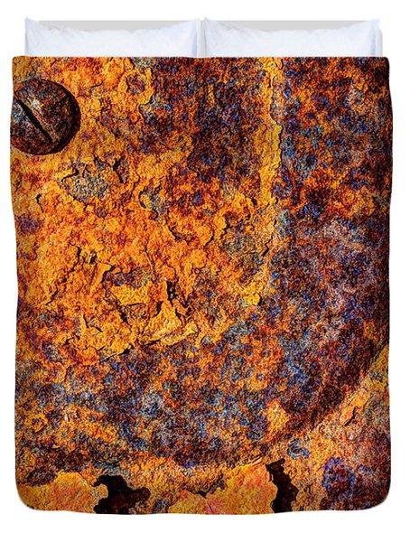 A Tad Rusty Duvet Cover by Heidi Smith