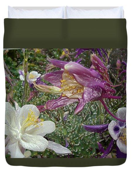 a taste of dew i do and PCC  garden too     GARDEN IN SPRING MAJOR Duvet Cover