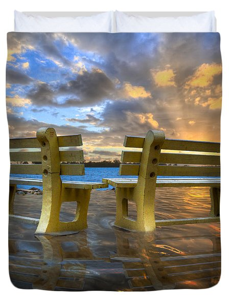 A Time For Reflection Duvet Cover by Debra and Dave Vanderlaan