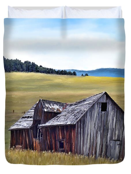 A Time In Montana Duvet Cover