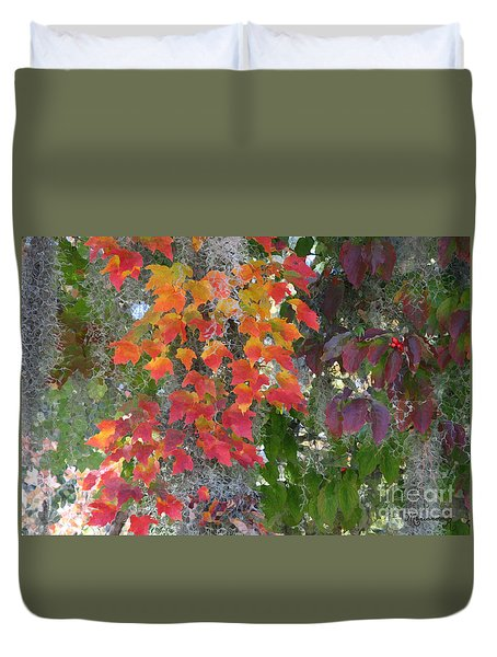 A Touch Of Autumn Duvet Cover by Mariarosa Rockefeller