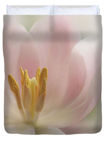 A Touch Of Pink Duvet Cover by Annie Snel