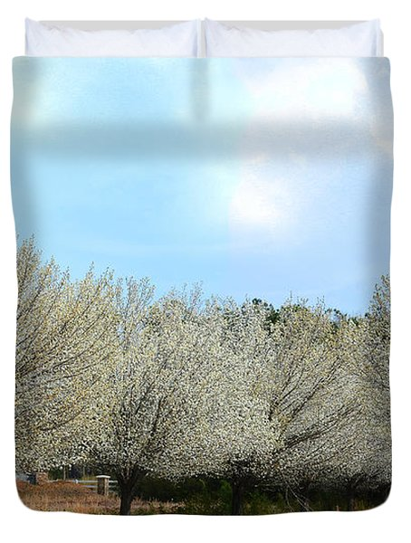 Duvet Cover featuring the photograph A Touch Of Spring by Kathy Baccari