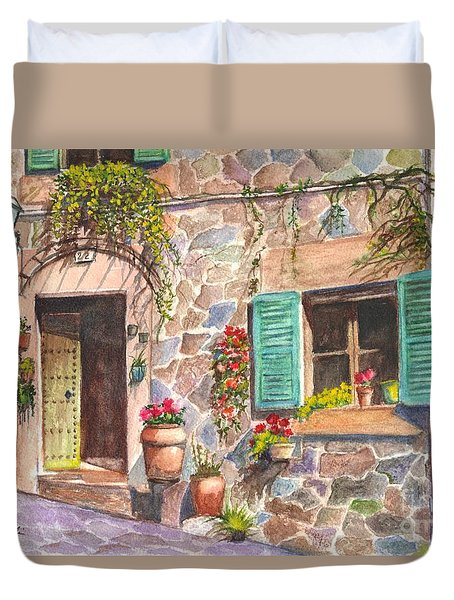 A Townhouse In Majorca Spain Duvet Cover