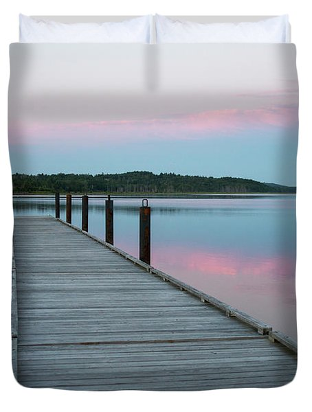 A Tranquil Evening On The Dock Duvet Cover