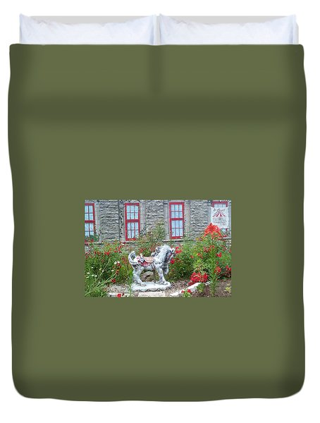 A Treasure In A Garden Duvet Cover