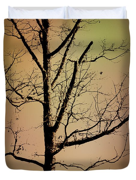 A Tree By The Lake Duvet Cover