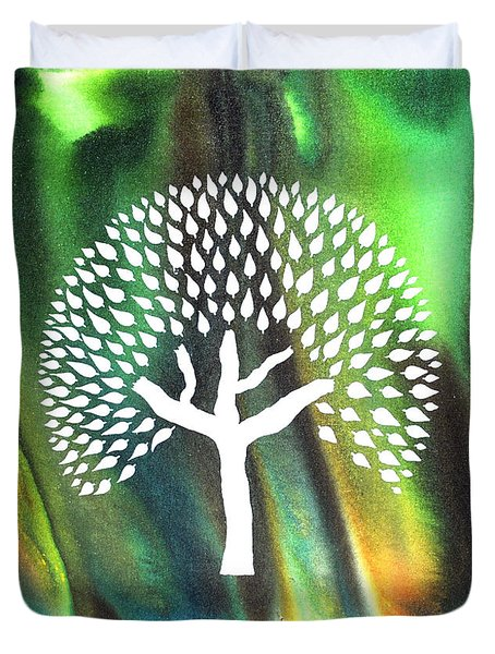 A Tree I Dreamt Of  Duvet Cover by Sumit Mehndiratta