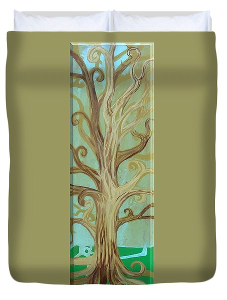 A Tree In Paris Duvet Cover by Genevieve Esson