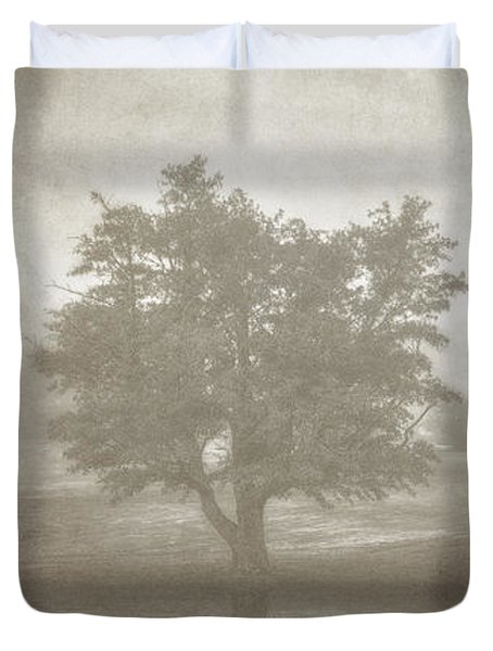 A Tree In The Fog 3 Duvet Cover