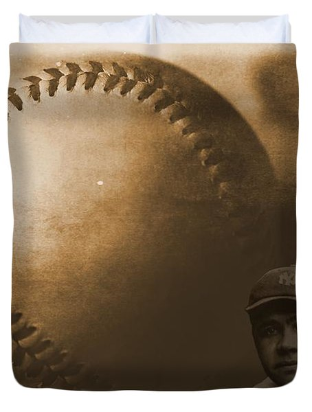 A Tribute To Babe Ruth And Baseball Duvet Cover by Dan Sproul