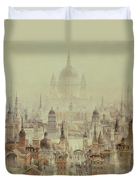 A Tribute To Sir Christopher Wren Duvet Cover