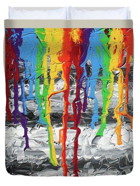 A Triumph Of Color Duvet Cover by Ric Bascobert