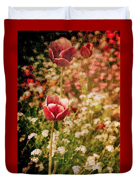 A Tulip's Daydream Duvet Cover by Loriental Photography