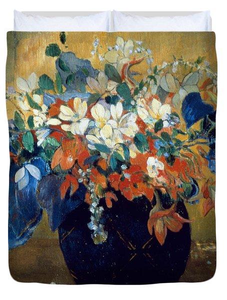A Vase Of Flowers Duvet Cover by Paul Gauguin