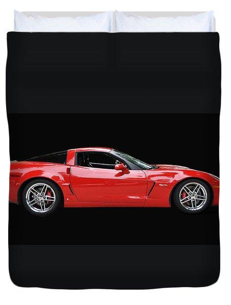 A Very Red Corvette Z6 Duvet Cover by Allen Beatty
