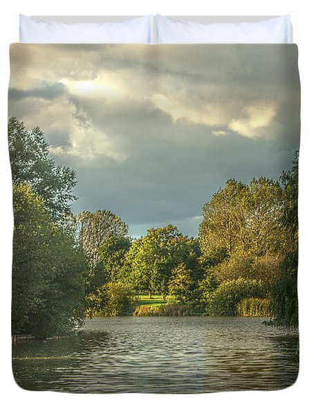 A View Down The Lake Duvet Cover