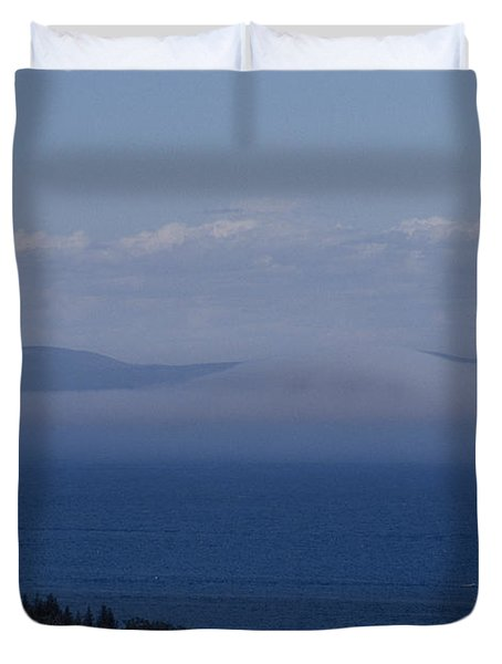 A View From Acadia Duvet Cover